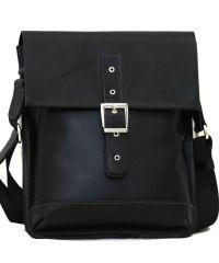 Мужская кожаная сумка MK29Кaz1 чёрная