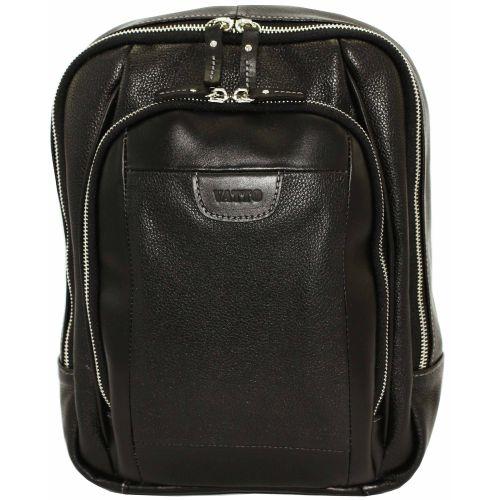Мужской кожаный рюкзак Mk-47FL8Kаz1 чёрный