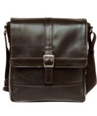 Мужская кожаная сумка Mk17Kaz400 коричневая
