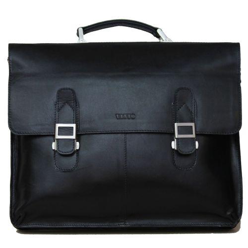 Мужской кожаный портфель Mk24Каz1 чёрный