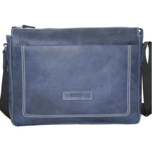 Мужской кожаный портфель MK33Kr600 синий