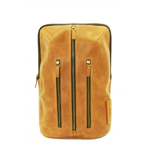 Мужской кожаный рюкзак Mk-27Kr200 рыжий