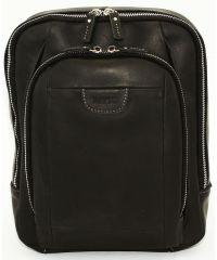 Мужской кожаный рюкзак Mk-47Kr670 чёрный