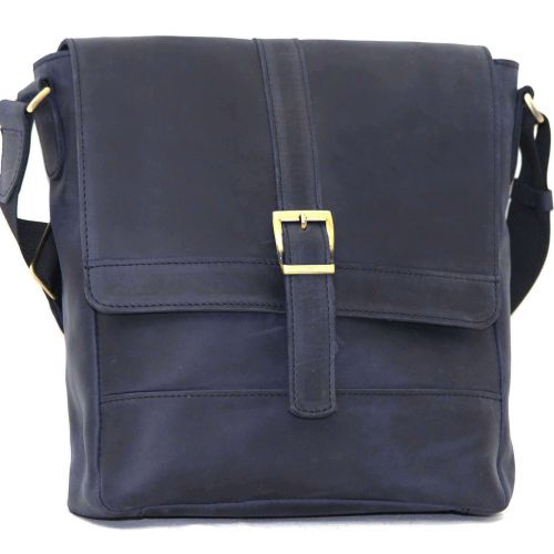 Мужская кожаная сумка Mk17Kr600 синяя