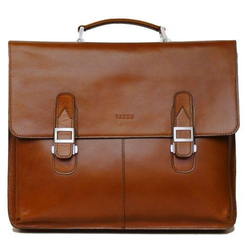 Мужской кожаный портфель MK24 рыжий