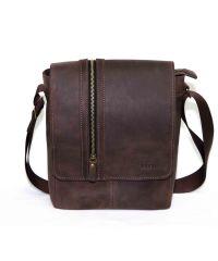 Мужская кожаная сумка MK28Kr450 коричневая