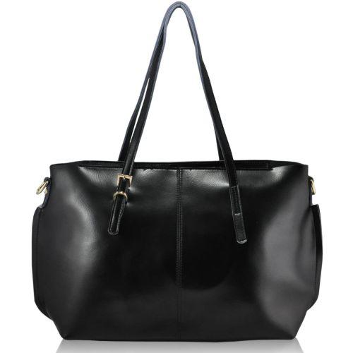 Женская кожаная сумка 969 черная