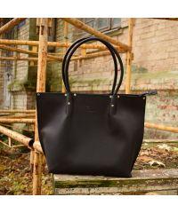 Женская кожаная сумка Babak Shopper Black 894076 черная