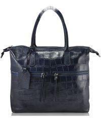 Женская кожаная сумка 2653 синяя