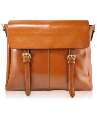 Женская кожаная сумка 12231 рыжая
