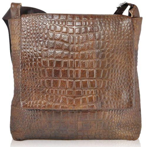 Мужская кожаная сумка 3075 коричневая
