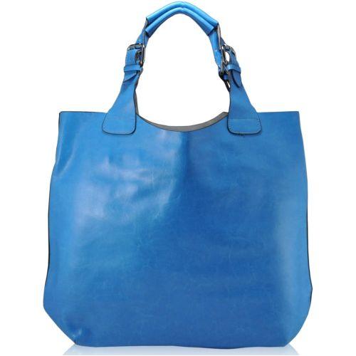 Женская кожаная сумка 811 голубая