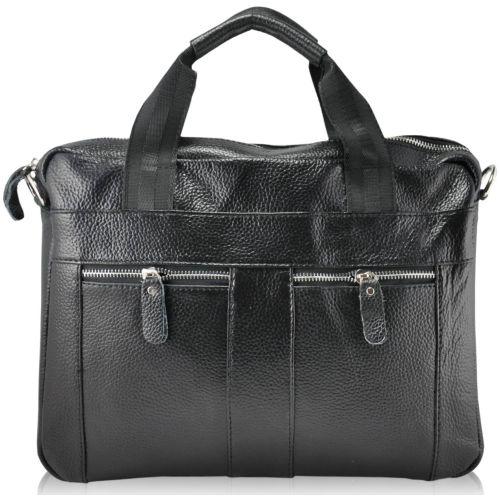 Мужской кожаный портфель 9025 черный