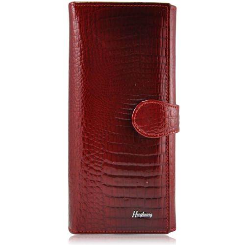 Женский кожаный кошелек AE 031-1 красный