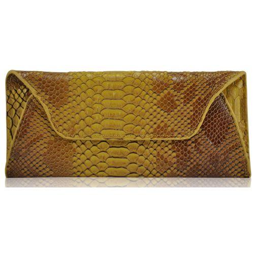 Женский кожаный кошелек 6801-3 желтый