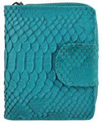 Женский кожаный кошелек E-3 бирюзовый