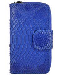 Женский кожаный кошелек E-2 синий