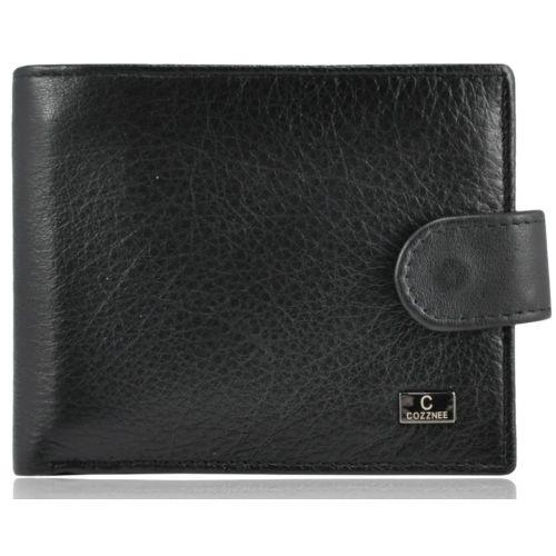 Мужской кожаный кошелек 22-01-089 черный