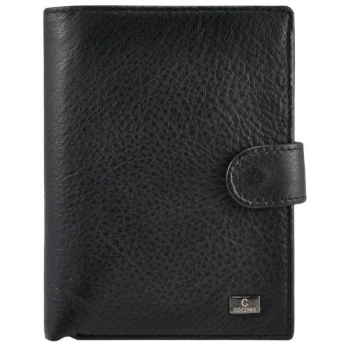 Мужской кожаный кошелек 22-302 черный