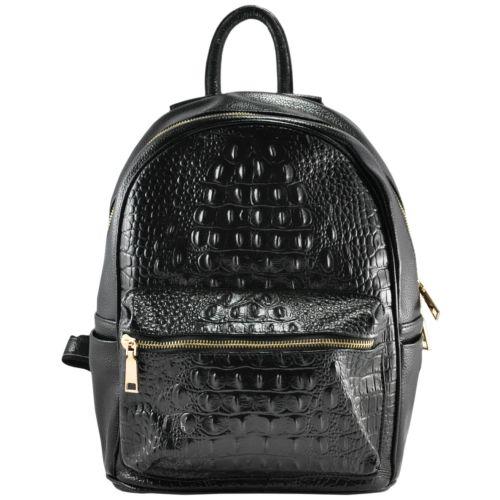 Кожаный рюкзак NO-6021 черный
