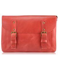Кожаная сумка Babak Сrossbody 861078 красная