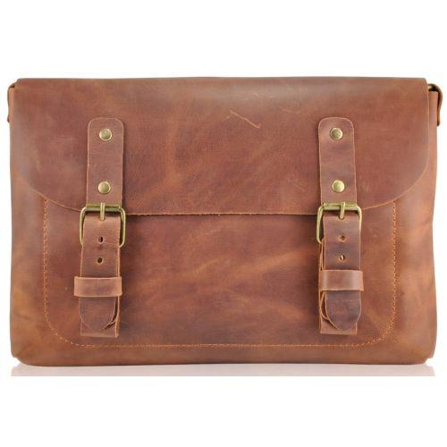 Кожаная сумка Babak Сrossbody 861065 рыжая