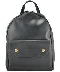 Кожаный рюкзак 873576 черный
