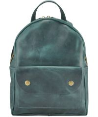 Кожаный рюкзак Babak Terra Green 873077 зеленый