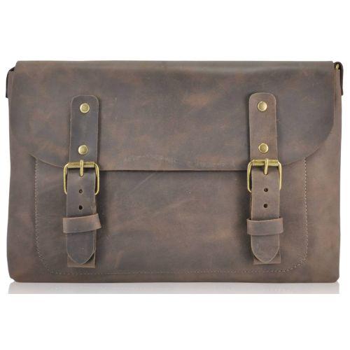 Кожаная сумка Babak Сrossbody 861051 коричневая