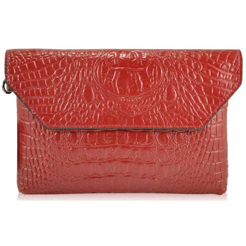 Женский кожаный клатч 2141 красный