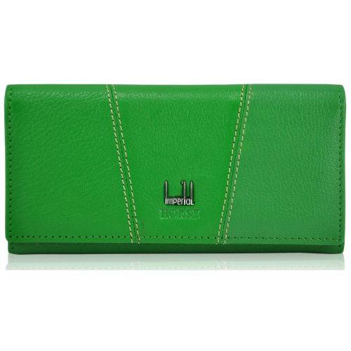 Женский кожаный кошелек A0001-B-1 зеленый