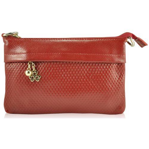 Женский кожаный клатч 856 красный