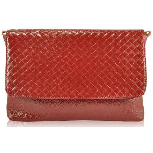 Женский кожаный клатч 2053 красный