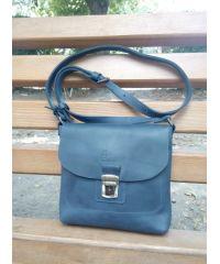 Кожаная сумка 886062 синяя