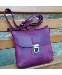 Кожаная сумка 886066 фиолетовая