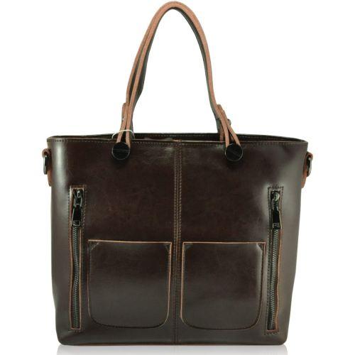 Кожаная сумка 208 коричневая
