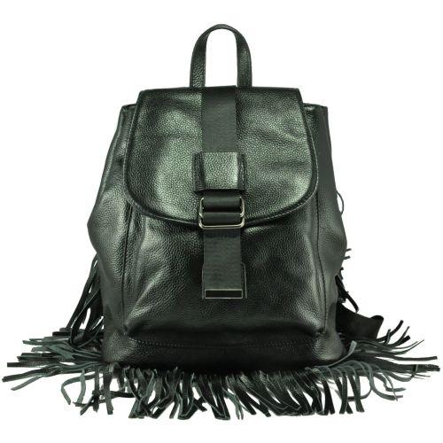 Кожаный рюкзак 6683-1 черный