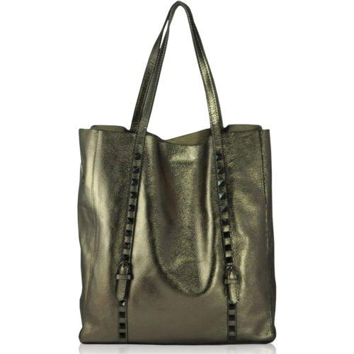 Кожаная сумка 8885 бронзовая