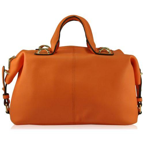 Кожаная сумка 284015 оранжевая