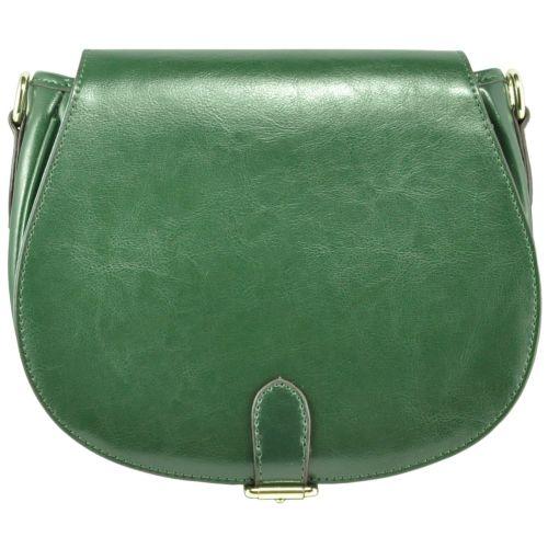 Кожаный клатч 815 зеленый