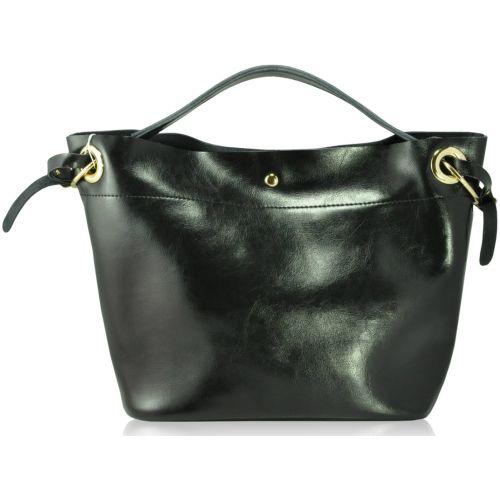 Кожаная сумка 926-B черная