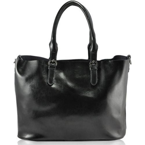 Кожаная сумка 2026 черная
