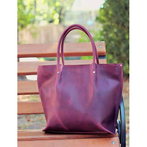 Женская кожаная сумка 894266 фиолетовая