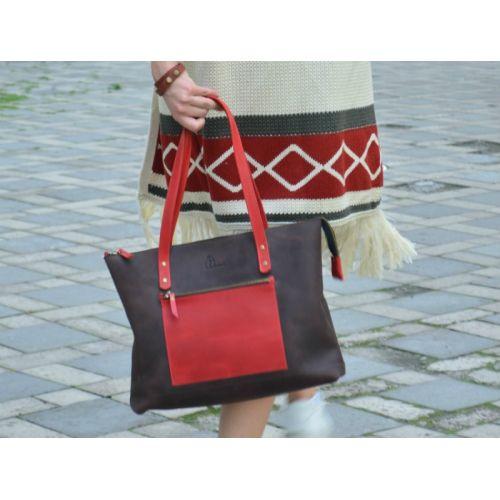 Женская кожаная сумка Babak Lady Boss Comb BR 860051/78 коричневая