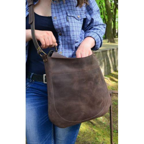 Кожаная сумка 880051 коричневая