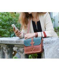 Женский кожаный клатч 865065/77 рыжий