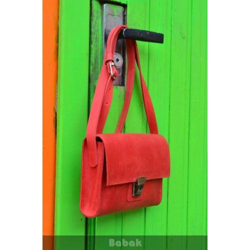 Кожаный клатч 870078 красный