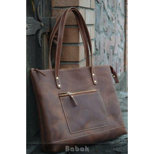 Женская кожаная сумка 860265 коньяк