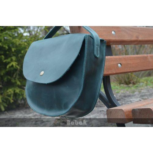 Женская кожаная сумка 874077 зеленая