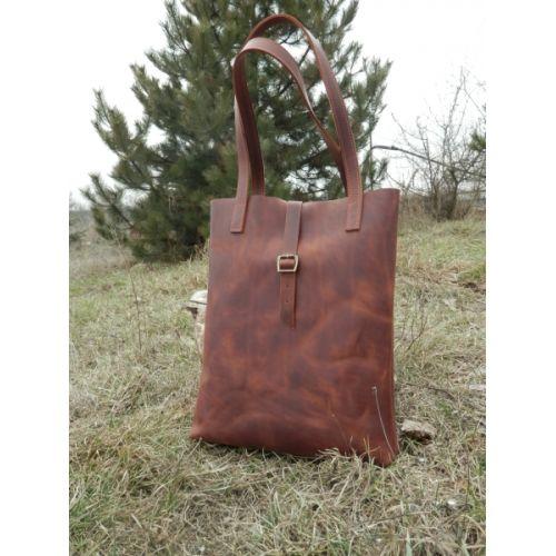 Женская кожаная сумка 871265 рыжая